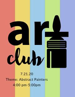 Colorful Art School Club Flyer Paint