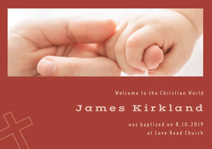 Claret Baptism Announcement Baptism Announcement