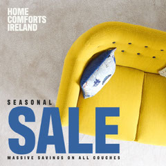 Yellow Couch Home Comforts Sale IG Square Discount