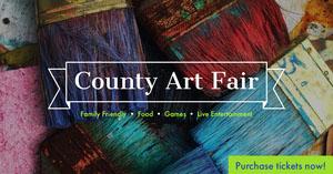 Colorful County Art Fair Event Ad Facebook Cover Portada de Facebook
