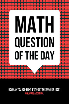Red Black and White Math Question Social Media Post Graphic Math