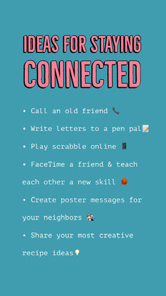 Pink and Teal Staying Connected Instagram Story Friends
