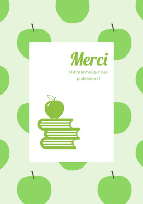 teacher thank you cards  Carte de remerciement