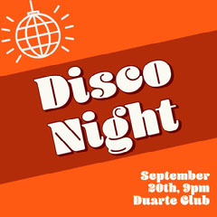 Orange Disco Night Instagram Square  Dance Flyer