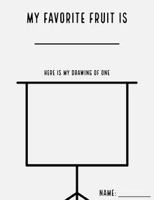 black white drawing my favorite fruit worksheet letter  Lettera