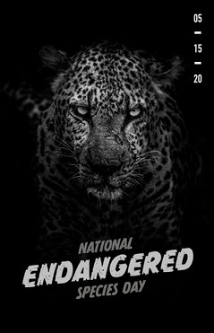 national endangered species day poster  Animal