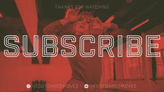 red white YouTube outro thanks for watching subscribe YouTube thumbnail  Dance Flyer