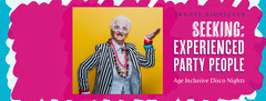 Pink All Ages Inclusive Disco Nights Facebook Cover Dance Flyer
