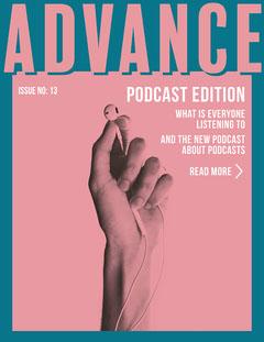 Blue & Pink Hands with Headphones Tech Newsletter Tech