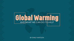 Blue & Pink Global Warming Presentation Cover Earth