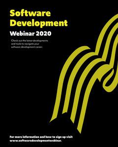 Black and Yellow Software Development Webinar Instagram Portrait Career Poster