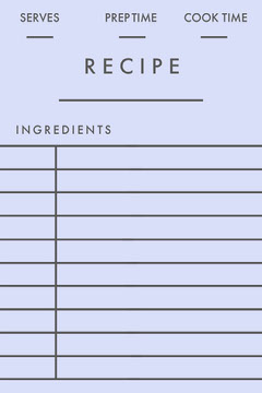 Light Blue Bank Recipe Card Recipes