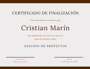 Cristian Marín Certificado