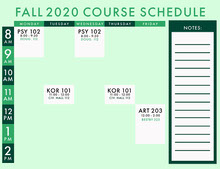 Mint Green Modern Timetable Pianificazione