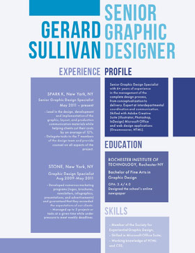 GERARD<BR>SULLIVAN Currículum creativo