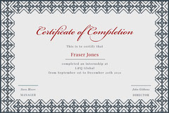 Grey and White Internship Certificate Border