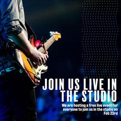 White dots Live Studio Invite Instagram Square Rock Concert
