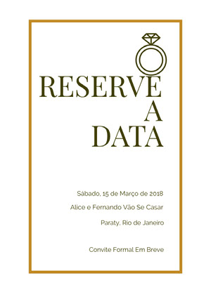 wedding ring save the date card  Reserve a data