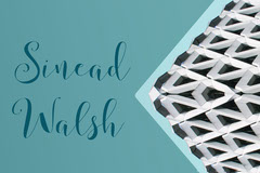 Teal and White Pattern Calligraphy Name Tag Teal