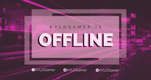 Pink Twitch Banner with City at Night Banner per Twitch