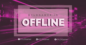 Pink Twitch Banner with City at Night Banner do Twitch