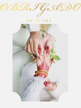 wedding rings exchange wedding thank you cards  Cartão de agradecimento