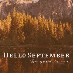 Orange Hello September Instagram Square Forest
