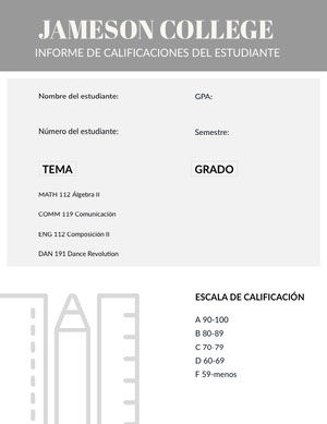 grey report cards Informe