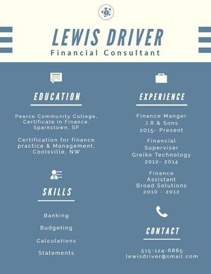Blue and White Infographic Resume Infographic Examples