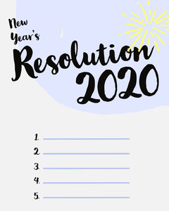 new year resolution instagram portrait New Year