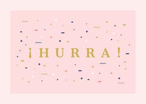 yay confetti congratulations cards  Tarjeta de felicitación