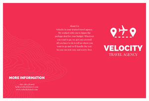 Red and White Velocity Brochure Brochure