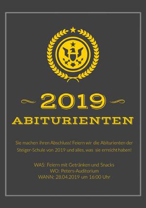 graduation announcements  Karte zum Schulabschluss
