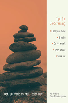 Red and White De Stressing Tips Pinterest Post Health Posters