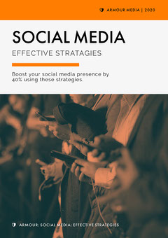 Orange Modern White Paper Cover Page Social Media Flyer