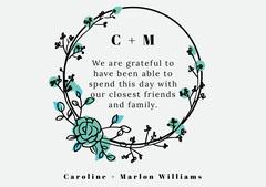 circle frame wedding thank you card Frame