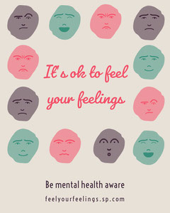 feel your feelings igportrait  Health Posters