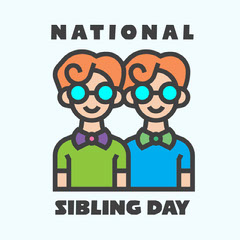 National Sibling Day Family