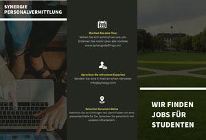WIR FINDEN JOBS FÜR STUDENTEN Flugschrift