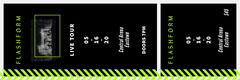 Black and Neon Green Chevron Event Ticket Concert Ticket