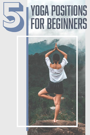 Blue and Light Toned, Yoga Positions for Beginners, Pinterest Post 101 Templates - Professional Communicator