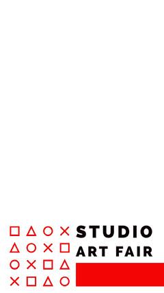 White Red and Black Studio Art Fair Social Post Art