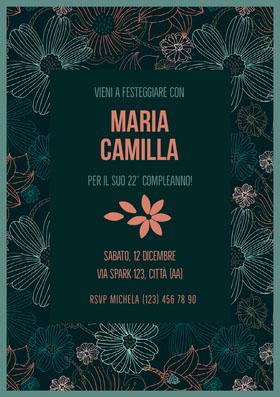 Maria Camilla  Invito al compleanno