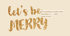 Beige and Gold Holiday Party Facebook Banner Event Cover Holiday Party Flyer