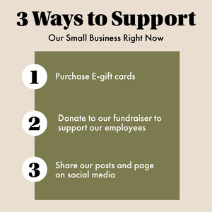 Ways To Support Our Small Business Grafica per social media