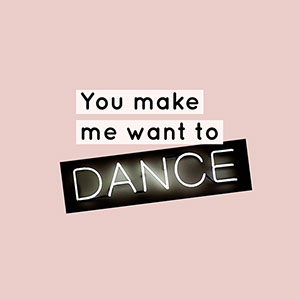 Pale Pink Neon Dance Instagram Graphic Grafica per social media