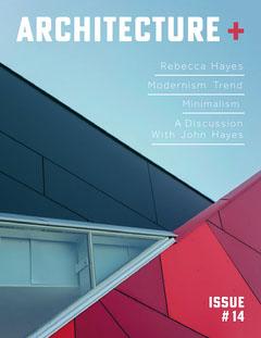 White and Red Architecture Magazine Cover Architecture