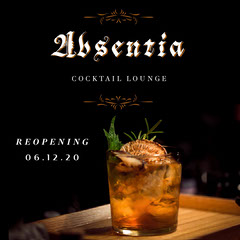 Black Absentia Cocktail Lounge Instagram Square  Cocktails