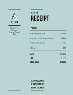 Bean Receipt Tax Flyer