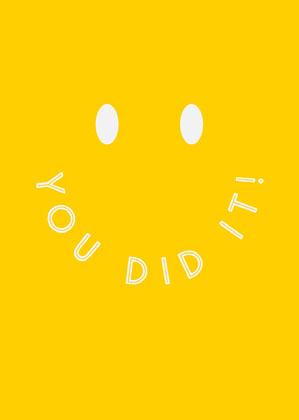 Yellow Smiley Face Congratulations Card Congratulations Messages
